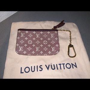 Authentic Louis Vuitton mini Lin pochette cles